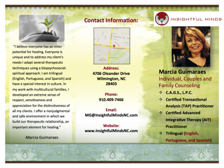 Trifold Brochure for Insightful Minds LLC